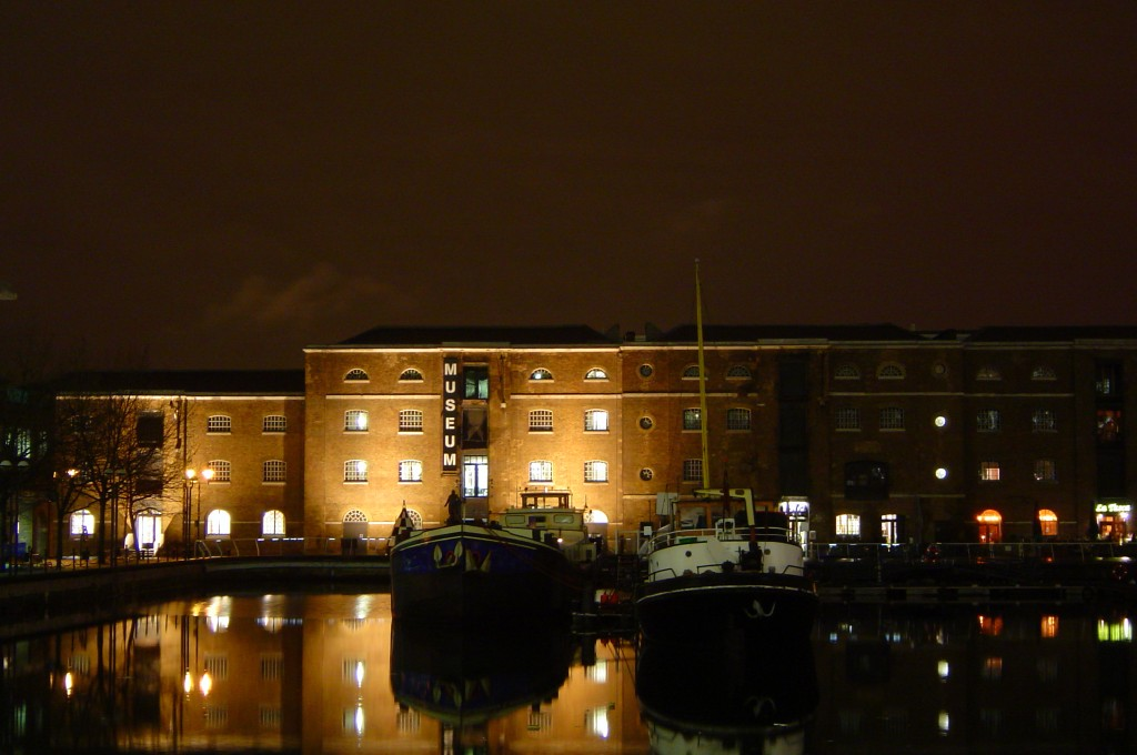 Museum in Docklands at night