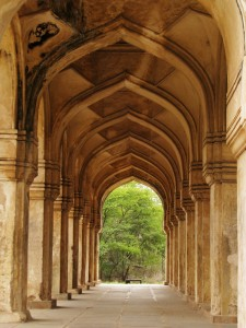 The archways at the Qutub Shahi Tombs.